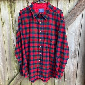 Pendleton Wool Flannel Plaid Button Down Shirt